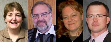 Left to right:  Joni Anderson, Jerry Johnson, Mary Melo-Nee, and Jason Shepherd